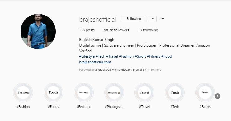 Brajesh Kumar Singh on Instagram